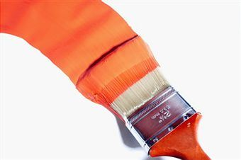 130319 orange-paint-on-brush