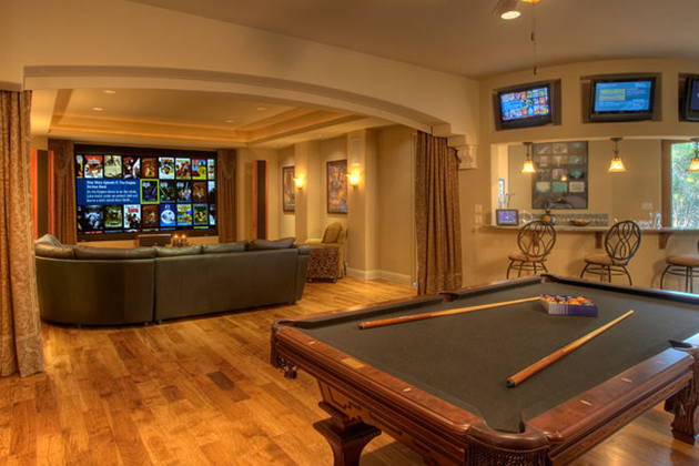 Man Cave by Sterling Custom Homes