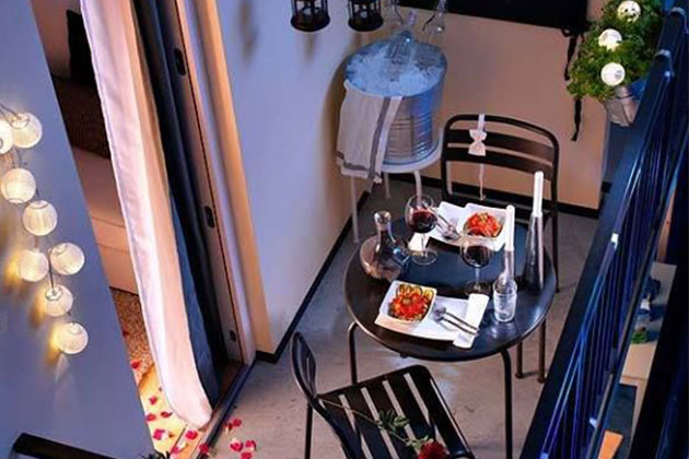 The Perfect Hire A Hubby Valentine's Day Date: Balcony