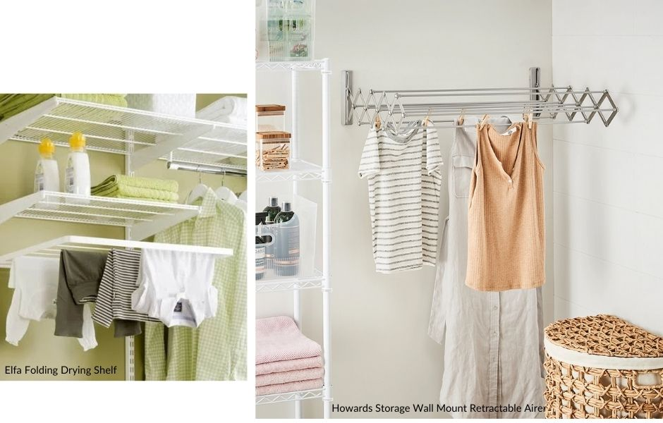 Laundry shelves & airers - Not only practical, but maximises your space.